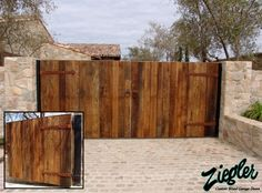 Image result for wooden driveway gates