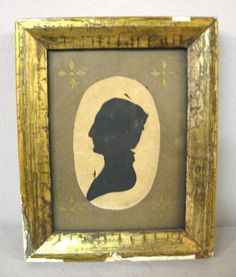PEALE'S MUSEUM SILHOUETTE. Hollow cut portrait