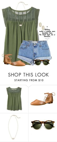 """""""~you are beautiful~"""" by flroasburn ❤ liked on Polyvore featuring Gap, Levi's, Jack Rogers and Kendra Scott"""
