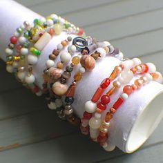 I've been meaning to figure out how to make one of these for a while so I've been saving cardboard tubes that are approximately wrist size...