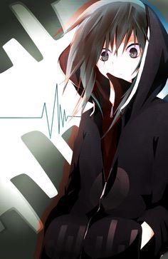 Tags: Anime, Zipper, Purple Hoodie, Kagerou Project, Kido Tsubomi, Pixiv Id 1169932, Purple Outerwear