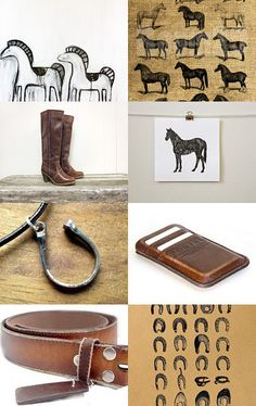 Riding, an etsy treasury of vintage and handmade equestrian-themed treasures pinned with TreasuryPin.com