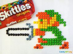 Link (Legend of Zelda) made out of Skittles