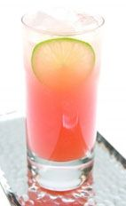 Guava Sing Song - The Guava Sing Song drink is made from cachaca, guava juice, lime juice and simple syrup, and served in a highball glass.