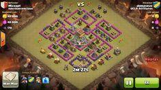Attacker TH7: 10 Level 2 Dragon, 4 Level 6 Balloon, Level 4 Barbarian King, 3 Level 4 Lightning Spell Defender TH8: Level 1 Barbarian King, Rank 10/20