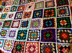 Super Colorful Vintage Afghan by TheWhistlingPine on Etsy, $28.00