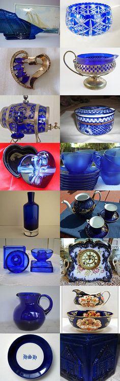 Cobalt Blue - Teamvintageusa by Marsha on Etsy--Pinned with TreasuryPin.com