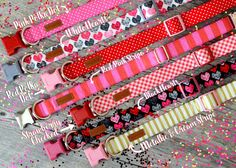 Introducing Our 2017 Valentines Day Collection  All PJP items are handmade-to-order specifically for your pet. For maximum durability all PJP products are sewn using industrial sewing machines. Our collars, leashes, & harnesses are made using heavy duty nylon, welded D-rings, & top-quality side release buckles. ♥♥♥ Valentines Day prints can be combined with any of our available packages   ☂Did you know that all our collars, leashes, & harnesses can be easily laundered? For best re...