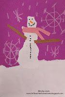 Torn paper snowmen/women