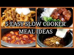 5 SIMPLE SLOW COOKER MEALS ~EASY FAMILY MEAL IDEAS - YouTube