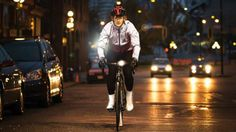 """This Bike Jacket Uses Embedded Glass """"Pixels"""" to Light Up the Night"""