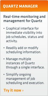 Quartz is a richly featured, open source job scheduling library that can be integrated within virtually any Java application - from the smallest stand-alone application to the largest e-commerce system. Quartz can be used to create simple or complex schedules for executing tens, hundreds, or even tens-of-thousands of jobs