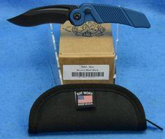 RAT Worx MRX Full Sized Chain Drive Knife Lanyard Cut Blue Recurve Blade Handle Black 06201 | RAT Worx USA