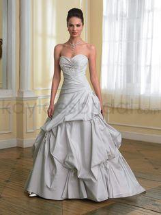 Taffeta Sweetheart Asymmetrically Draped Bodice A-line Wedding Dress