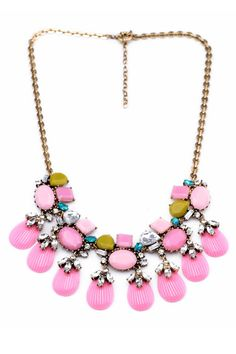 J. Crew Inspired Necklace. ONLY $12.99! Sweet Rhinestone Necklace with Gem Pendant