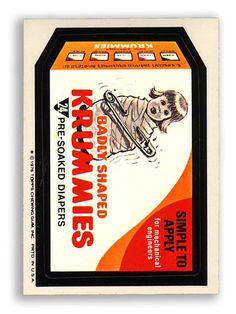 Topps Wacky Packages  16th Series 1976/7 KRUMMIES