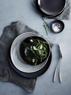 Junto - Rosenthal x Sambonet Food Plating, Spinach, Table Settings, Pottery, Ceramics, Dishes, Vegetables, Keramik Design, Teller