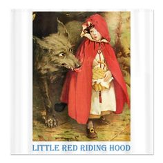 Fairytale Little Red Riding Hood Shower Curtain #home #decor #bathroom