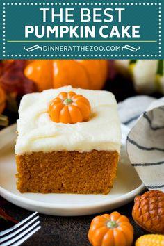 Pumpkin Cake Recipe | Pumpkin Spice Cake #cake #pumpkin #dessert #baking #fall #thanksgiving #dinneratthezoo