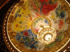 Palais Garnier, otherwise known as the Paris Opera. A false ceiling put under the dome and painted by Chagall Paris Opera House, Ceiling Detail, Henri Matisse, Trip Advisor, Vintage World Maps, Illustration Art, Old Things, Painting, Image