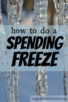 How to do a Spending Freeze - Everything you need to know to save money fast! I did this and I saved $200 in 10 days!