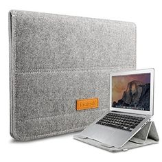 Amazon.com: Inateck 12.9 iPad Pro/ 13.3 Inch MacBook Air/ Pro Retina Sleeve Case Cover Ultrabook Netbook Laptop Bag Tablet PC Sleeve with Stand Function for MacBook and iPad, Gray: Computers & Accessories