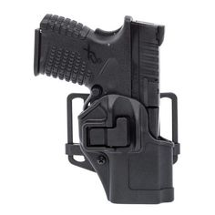 BlackHawk CQC SERPA Holster With Belt and Paddle Attachment, Fits Springfield XD, Right Hand, Black - Endless Box - 1