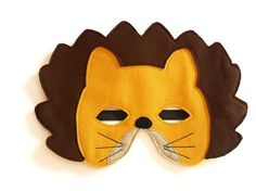 Lion Felt Children Mask Kids Carnival Mask Stocking by BHBKidstyle, €12.00
