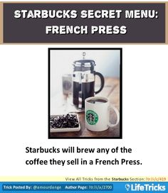 Starbucks Secret Menu: French Press