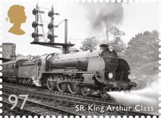 On the same page as the Croatian QR stamps, there is another item on the UK's Royal Mail. Last year it launched a series of Great British Railway stamps with augmented reality. No codes, just point at the image with a smartphone. Uk Stamps, Rare Stamps, Postage Stamps, British Railways, Royal Mail Postage, Commemorative Stamps, Steam Locomotive, Great British, Penny Black