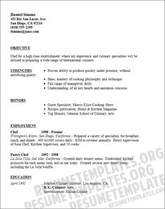 pastry chef resume template resumes samples enhydra sleep with - Sample Resume For Cooks