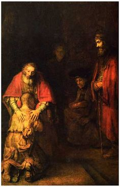 Rembrandt Return of the Prodigal Son Barouque Art Poster 11x17