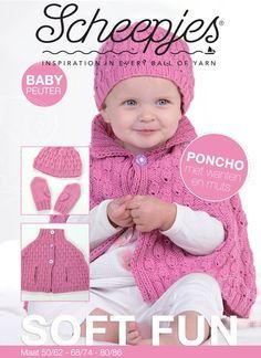 Met dit leuke patroon van Scheepjeswol kun je een leuke poncho, muts en wantjes breien voor baby's. Het patroon is niet heel eenvoudig maar wel heel leuk.