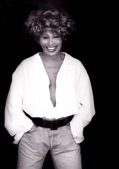 "Tina Turner on the set of the ""I Don't Wanna Fight"" video"