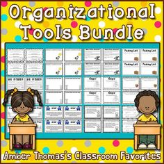 Help your students stay organized with this bundle of tools and checklists.  $