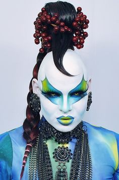 Drag Queen Nina Flowers. Her looks are Incredible.