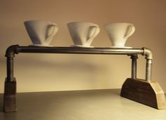 Pour Over Coffee Stand/Station by Blackswallowespresso on Etsy, $45.00