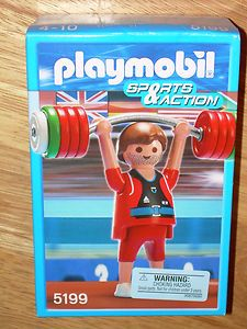 PLAYMOBIL 5199 OLYMPIC WEIGHTLIFTER SPORTS & ACTION Figures Set New In Box | eBay