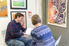 'Konstrundan 2016' art event at The Art Garage Finland with Alan Hogan. Foto: Annabelle Antas #art #taide #konst #artist #konstrundan2016 #finland #raseborg #artexhibition #people #artpeople #paintings