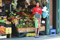 Silvia Paoli (Major Models Milan) by Caterina Gualtieri for ELLEMENTS Magazine // #editorial #magazine #fashion #colors #fruit #brazil #market