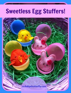 Rockabye Butterfly: Sweetless Egg Stuffers -- Great ideas for things to put in Easter eggs that won't get 'em sugared up!