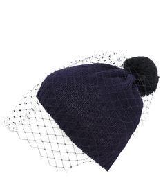 Bernstock Speirs Navy Veil Wool Beanie Hat | Hats | Liberty.co.uk