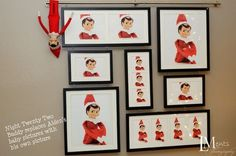Replace pictures with Elf on a Shelf by lorraine