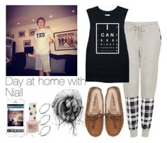 """Day at home with Niall"" by niallxxsyndrome ❤ liked on Polyvore featuring Topshop, ASOS and UGG Australia"