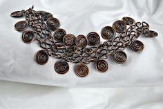 Copper Bracelet Egyptian Coil by UrbanJule on Etsy
