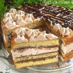 Romanian Food, Holiday Desserts, Vanilla Cake, Nutella, Tiramisu, French Toast, Deserts, Good Food, Dessert Recipes