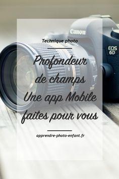 La focale, la distance avec le sujet et la taille du capteur ont également un impact sur la profondeur de champ. Une App Mobile vous facilitera la vie.