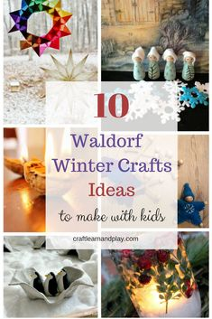 10 Waldorf Winter Crafts that will make your kids happy - Waldorf Winter Crafts for Kids – Winter craft ideas fork kids – Waldorf inspired activities - Winter Crafts For Toddlers, Winter Kids, Easy Crafts For Kids, Winter Activities, Toddler Crafts, Activities For Kids, Simple Crafts, Winter Art Projects, Projects For Kids
