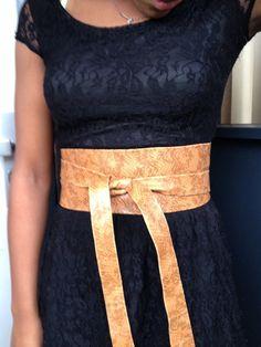 XL genuine leather animal design obi belt waist by SmpliAnwi