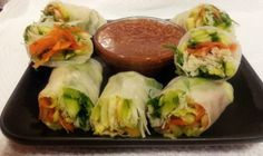 Vegetarian Fresh Spring Rolls: A cleansing mouthful of fresh vegetables that makes a delectable appetizer or a fine addition to asian-influenced meals. Cook time is refrigeration time. Altered from original in Healthy Weeknight Meals.